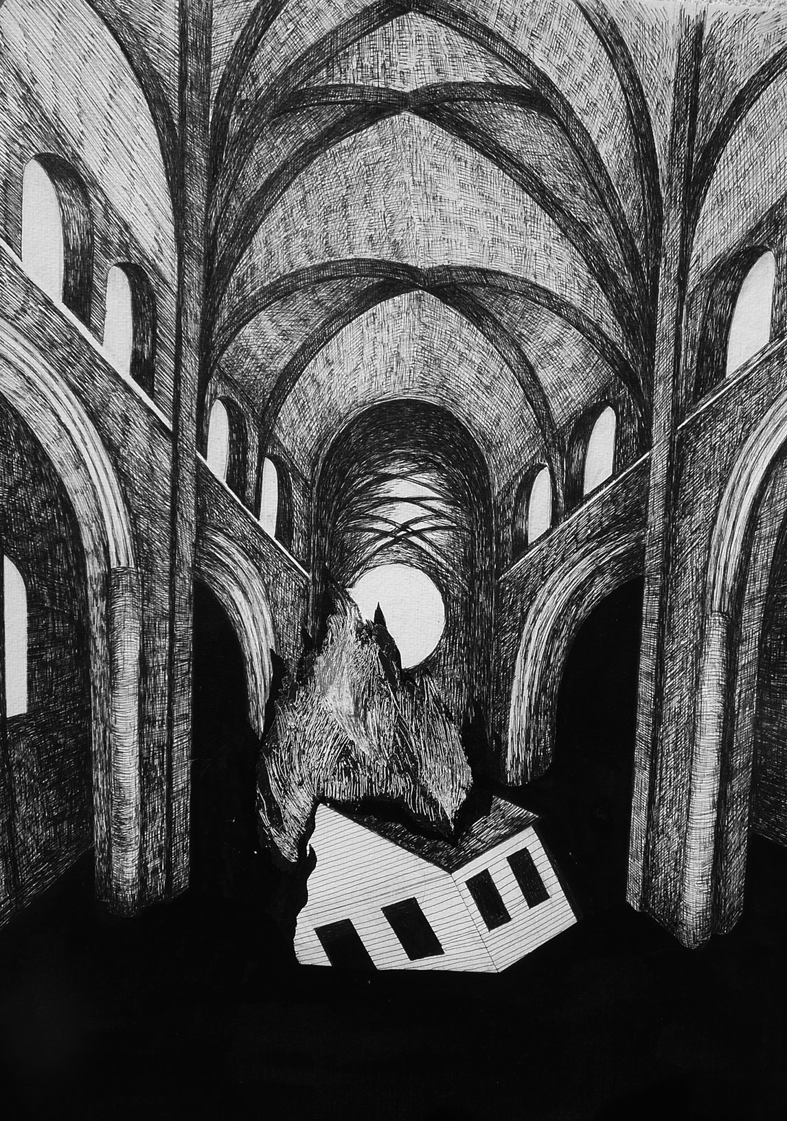 Series Brave World, ink on paper, 2017