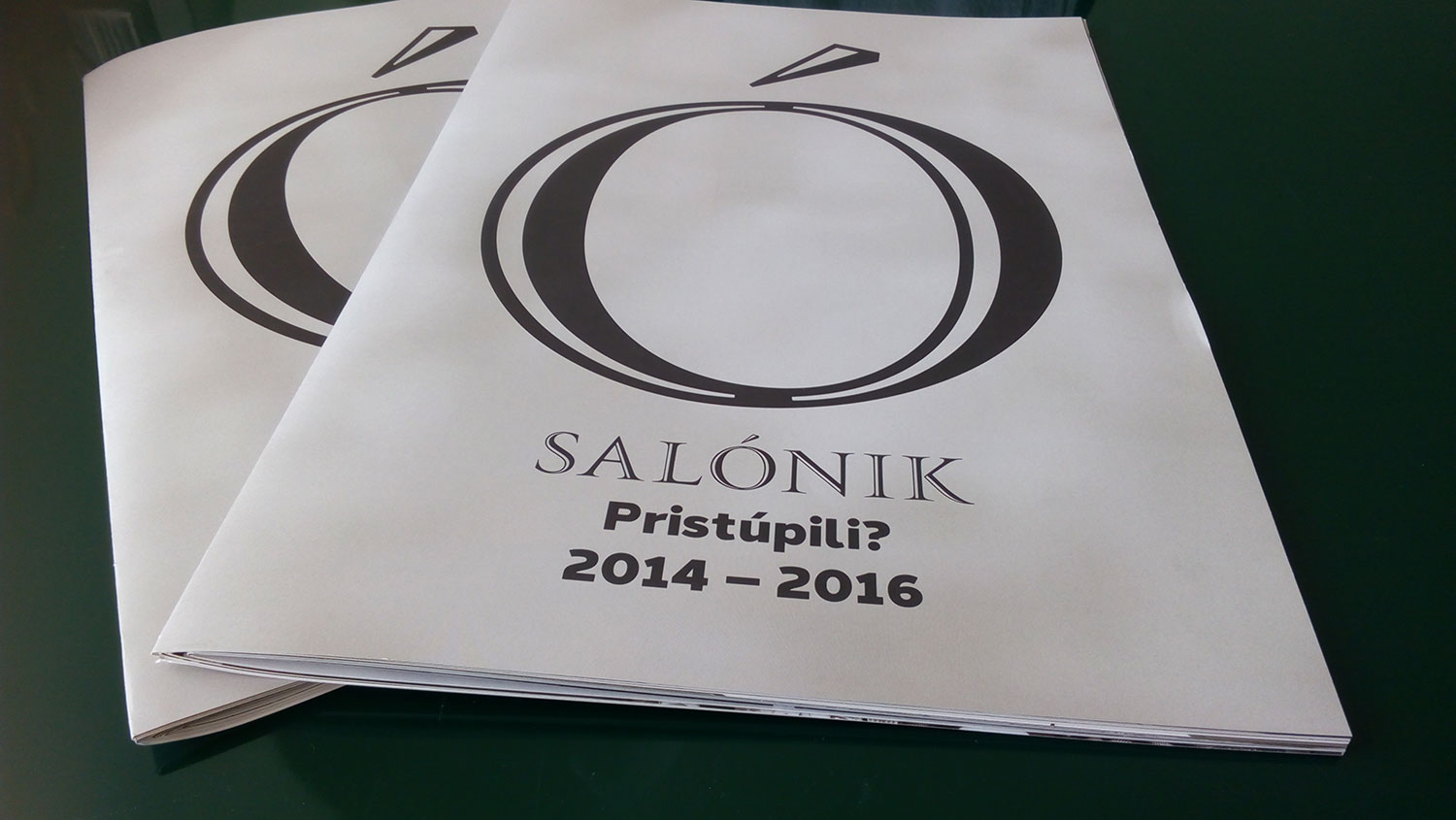 Salónik, catalogue layout