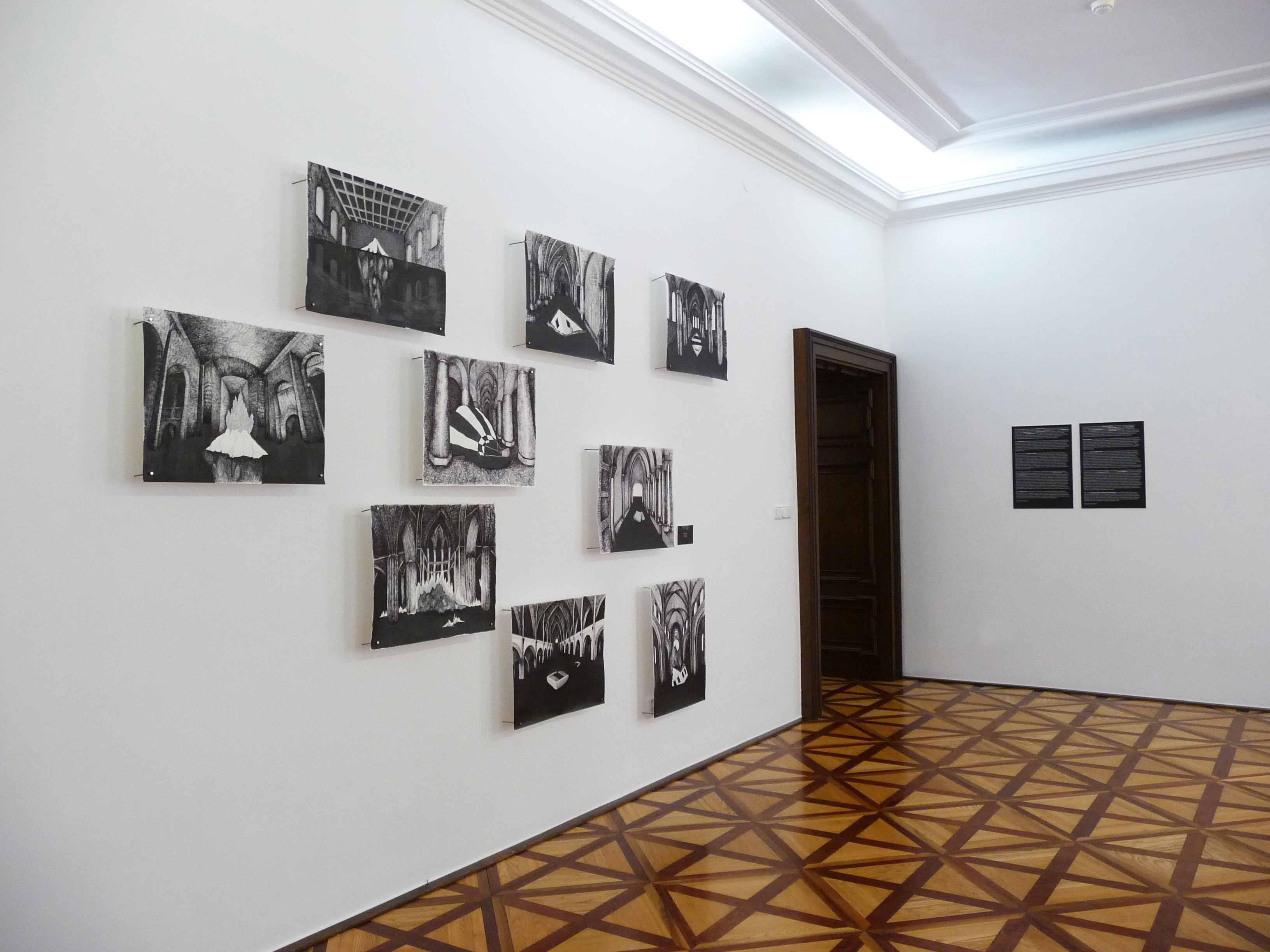 Standing waters, exhibition view, City Gallery Bratislava, cooperation Miriam Šebianová, curator Mir