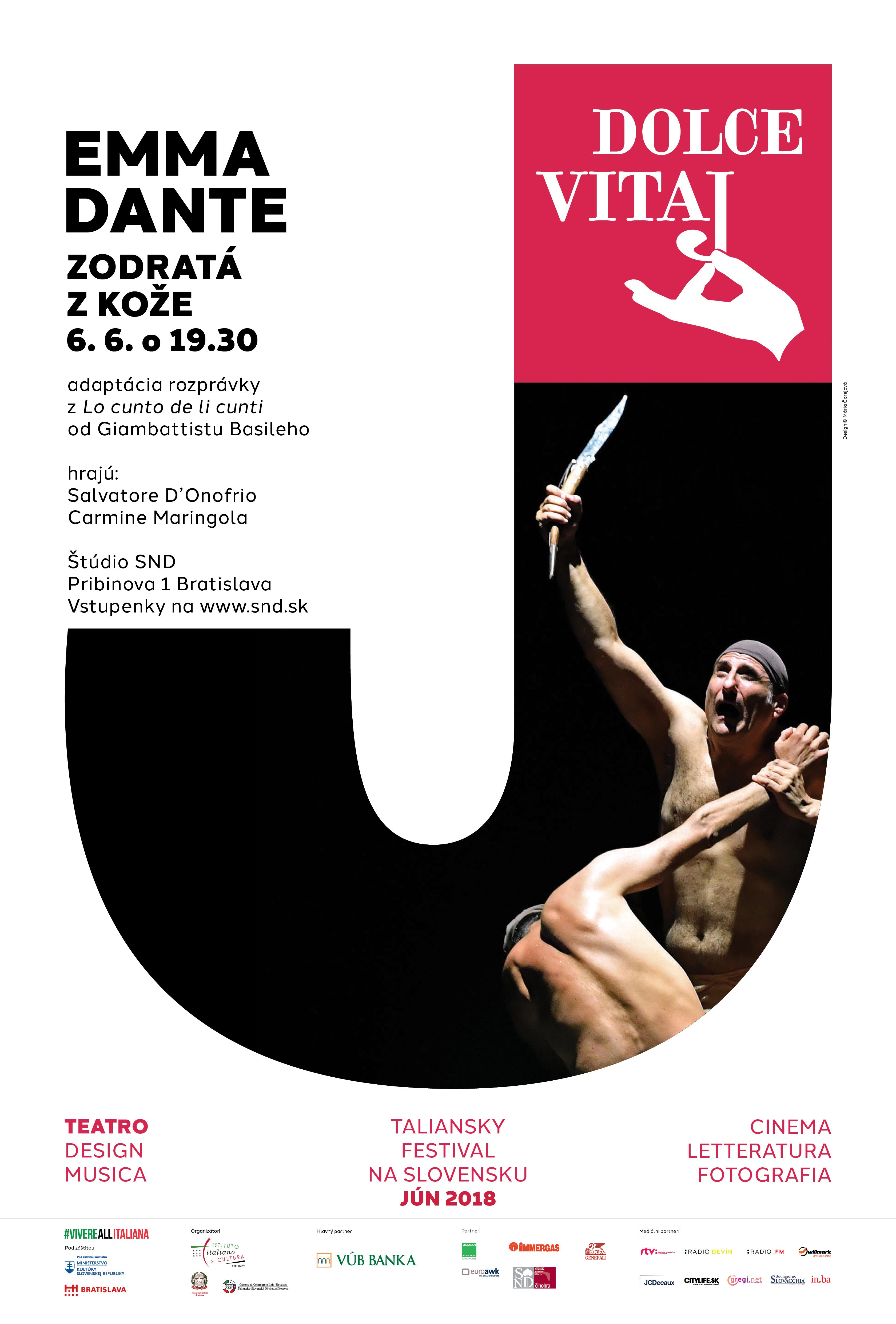 Visual for Italian Festival in Slovakia, Dolce vitaj 2018