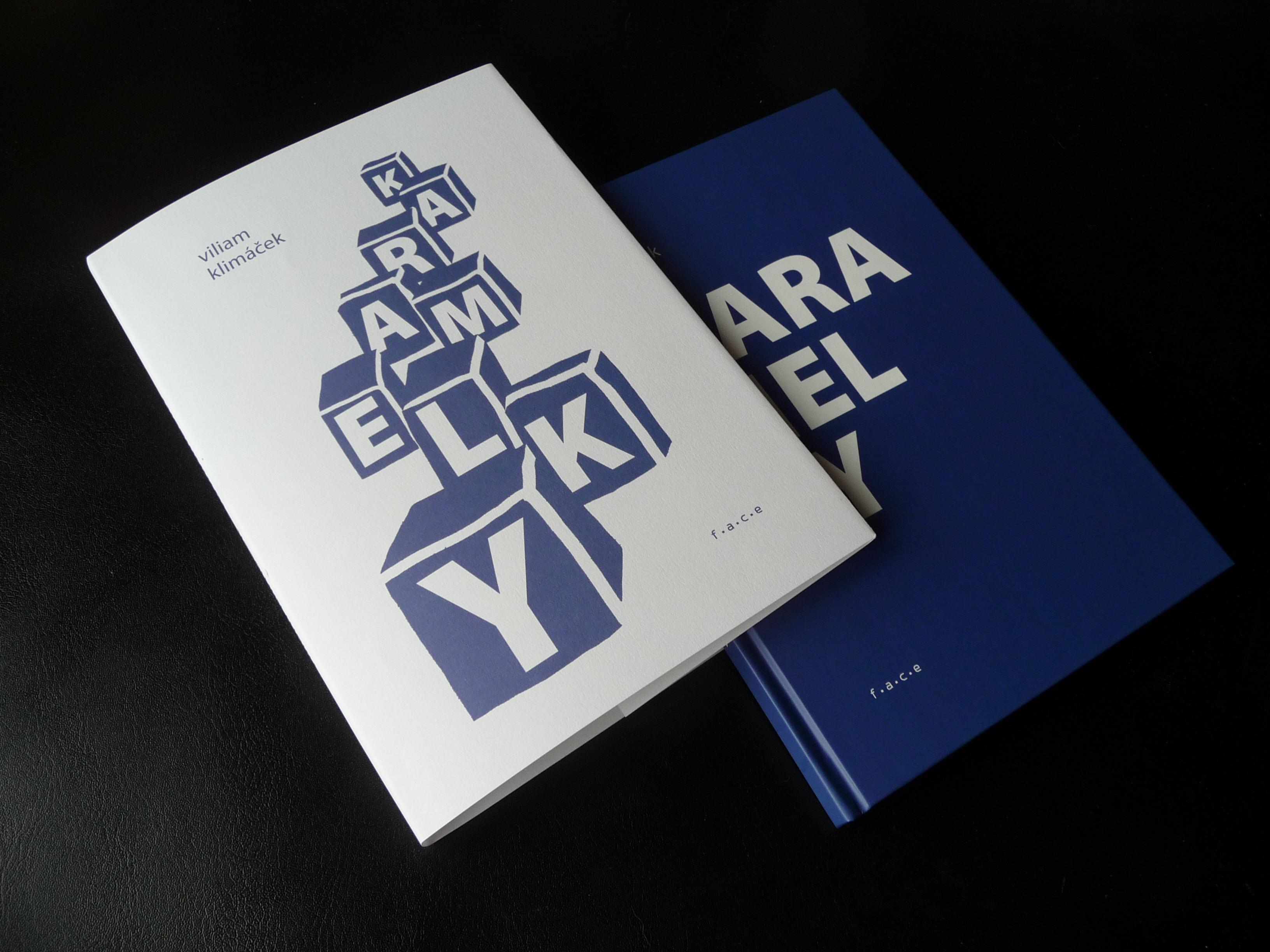Viliam Klimáček: Karamelky, redesign of publication,  f.a.c.e., 2017