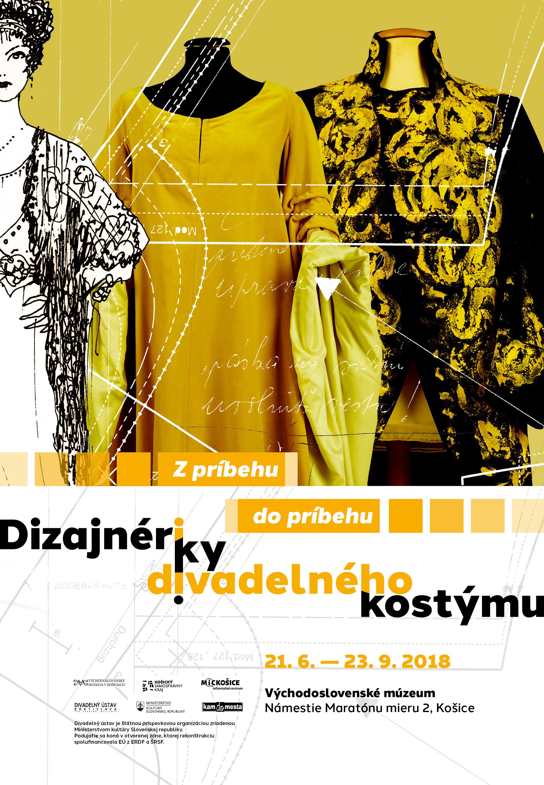 Theatre Institute Bratislava, Designers of Theatre Costume exhibition, poster