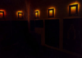 The Picture Room, installation of 10 paintings and poems, 1997 (with M. R. Nociarova)