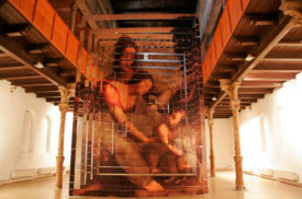 The Point of View, installation for Synagogue-Centre for Contemporary Arts, Trnava, Slovakia, 2006,