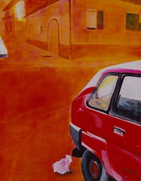 The Action Painting, acrylic on canvas, 80 x 90 cm, 2001