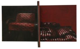 Home Edition, acrylic on canvas, 90 x 90 cm x 90 cm, 2008