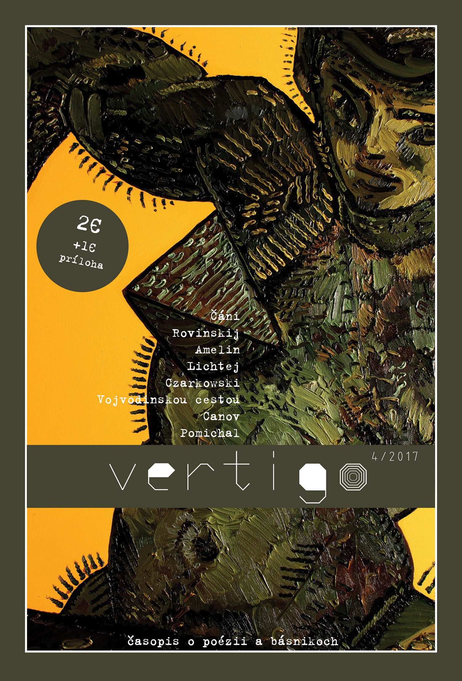 Magazine on literature and poets Vertigo, cover, since 2013