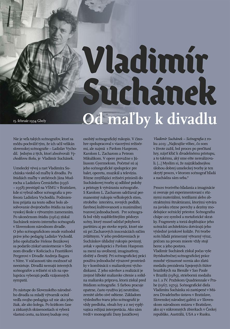 Exhibition Vladimír Suchánek, posters for Theatre Institute Bratislava, 2020
