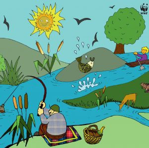 Illustration for Healthy-Sick Countryside campaign