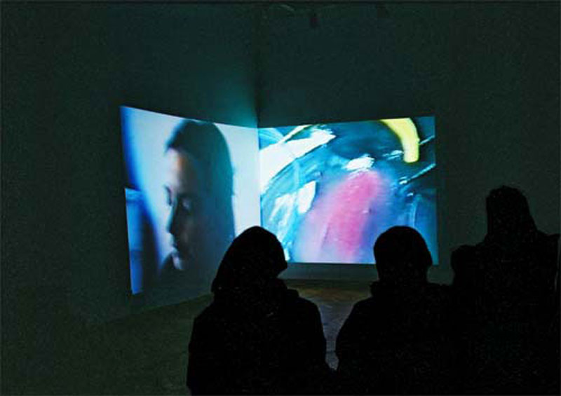 The Common Level, video installation, Gallery Medium, 2001 (with Michaela R. Nociarová)
