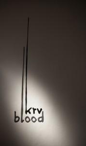 3D logotype for exhibition BLOOD, Slovak National Gallery; realisation: Sylvia Jokelova