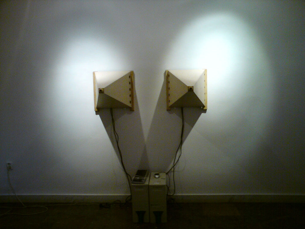 Videoinstallation for exhibition In the Space and Time, City Gallery Bratislava, 2009
