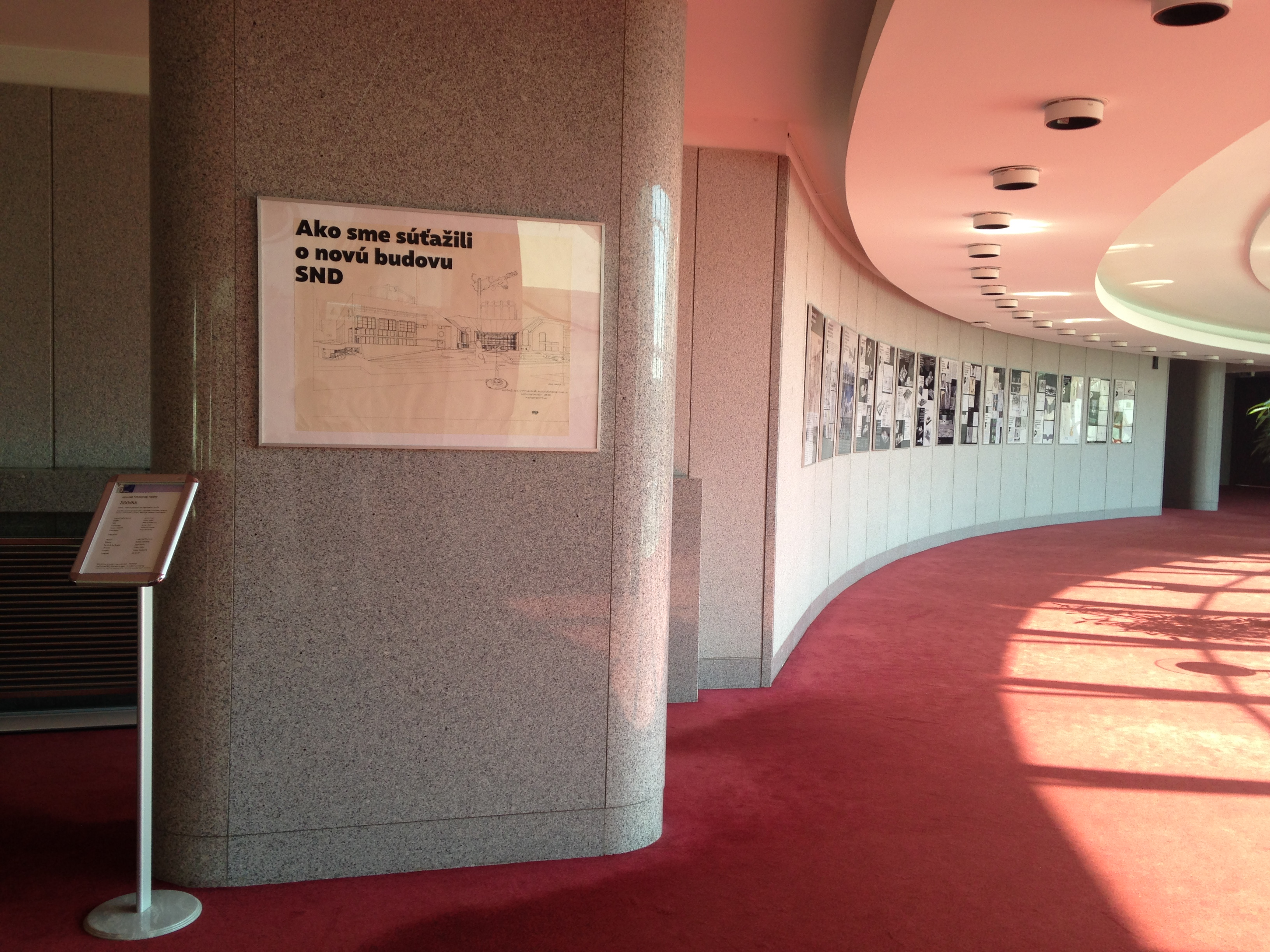 Exhibition How We Built The Slovak National Theatre, 2017