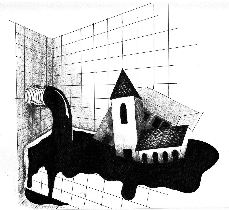 Drawings for album Potrubis, Komajota band, 2019