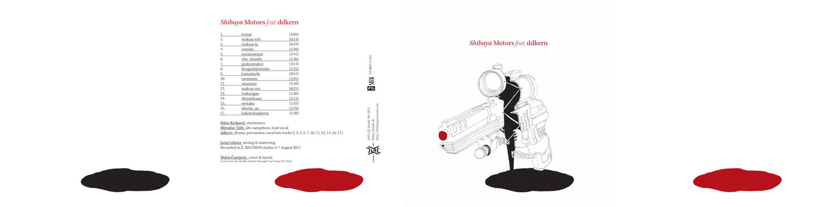 Shibuya Motors CD layout, 2012